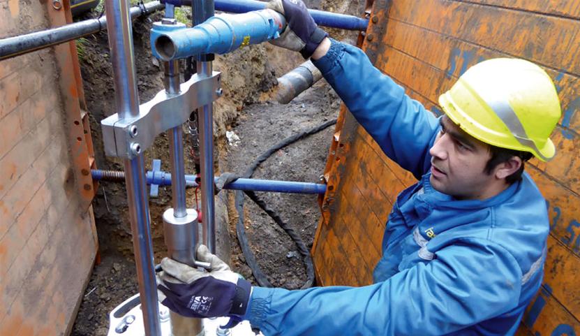 STOPL-T-F1 pro potrubí z oceli
