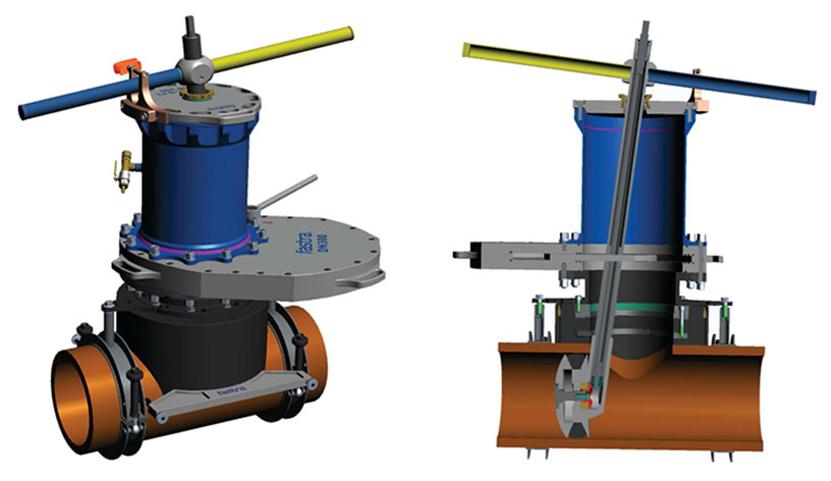 STOPL-S-F1 pro potrubí z PE
